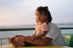 Little girl on the boat - Puerto Galera - The Philippines