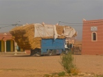 Truck carrying straw - Morocco